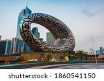 Small photo of Dubai, United Arab Emirates - November 13, 2020: The Museum of The Future in Dubai downtown built for EXPO 2020 scheduled to be held in 2021 in the United Arab Emirates