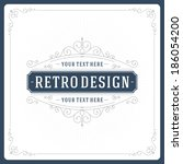 retro typographic design... | Shutterstock .eps vector #186054200