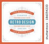 retro typographic design...   Shutterstock .eps vector #186054233