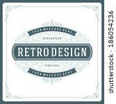 retro typographic design...   Shutterstock .eps vector #186054236