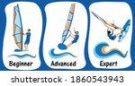 windsurfing skills levels.... | Shutterstock .eps vector #1860543943