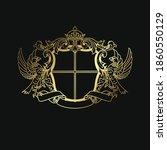 luxury crest logo template ... | Shutterstock .eps vector #1860550129