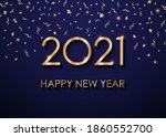 2021 happy new year gold text... | Shutterstock .eps vector #1860552700