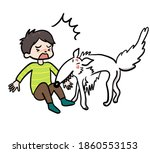illustration of a biting dog. | Shutterstock . vector #1860553153