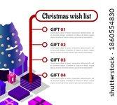 christmas wish list to santa...   Shutterstock .eps vector #1860554830