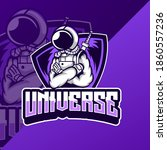 galaxy astronauts universe... | Shutterstock .eps vector #1860557236