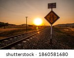 Abandoned Train Tracks In The...