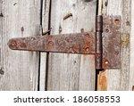Rusty Aged Iron Hinge Weathere...