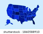 usa state map vector...   Shutterstock .eps vector #1860588910