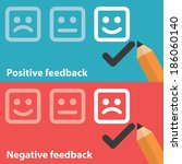 vector illustration of positive ... | Shutterstock .eps vector #186060140