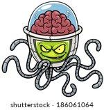 vector illustration of alien...