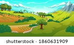 summer landscape with mountains ...   Shutterstock .eps vector #1860631909