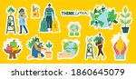set of eco save environment...   Shutterstock .eps vector #1860645079