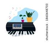 online music lessons  concept...   Shutterstock .eps vector #1860648703