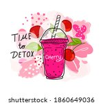smoothies or detox cocktail day ... | Shutterstock .eps vector #1860649036