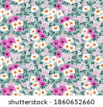 seamless floral pattern. ditsy... | Shutterstock .eps vector #1860652660