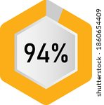 94  hexagon percentage diagram  ...
