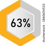 63  hexagon percentage diagram  ... | Shutterstock .eps vector #1860654523