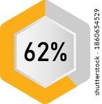 62  hexagon percentage diagram  ... | Shutterstock .eps vector #1860654529