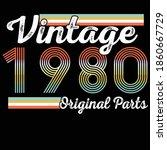 vintage 1980 original parts... | Shutterstock .eps vector #1860667729