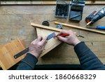 Amateur Carpenter With Wooden...