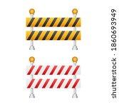 under construction barrier.... | Shutterstock .eps vector #1860693949
