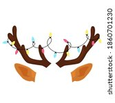 reindeer antlers with christmas ...   Shutterstock .eps vector #1860701230