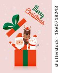 santa claus and gang of animal...   Shutterstock .eps vector #1860718243