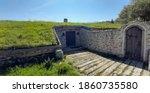 House Or Bunker Built Of Stone...