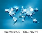 background digital image of...   Shutterstock . vector #186073724