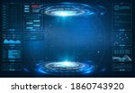 futuristic circle vector hud ...