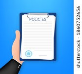 policies in flat style.... | Shutterstock .eps vector #1860752656