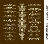 decorative elements for design... | Shutterstock . vector #186076304