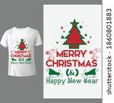 merry christmas tshirt design... | Shutterstock .eps vector #1860801883