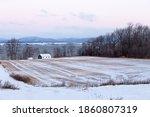 Dawn Rural Winter Landscape...