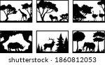 6 wildlife scenes with animals... | Shutterstock .eps vector #1860812053
