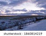 Rural Blue Hour Morning Winter...