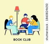 friends reading books. book... | Shutterstock . vector #1860824650