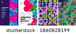 set of vector posters or event... | Shutterstock .eps vector #1860828199
