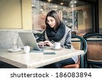 drink and wifi | Shutterstock . vector #186083894