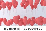 red helium party balloons on... | Shutterstock . vector #1860840586