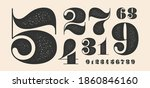number font. font of numbers in ... | Shutterstock .eps vector #1860846160