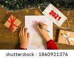 Little Girl Writing Letter To...