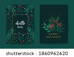 happy holidays greeting card... | Shutterstock .eps vector #1860962620