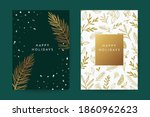 happy holidays greeting card... | Shutterstock .eps vector #1860962623