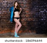 girl which loves sport   Shutterstock . vector #186096644