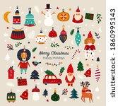 christmas decorative banner... | Shutterstock .eps vector #1860995143