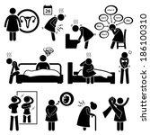 woman sickness illness diseases ... | Shutterstock . vector #186100310