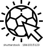 football or soccer click icon...