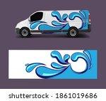 van wrap design template vector ... | Shutterstock .eps vector #1861019686